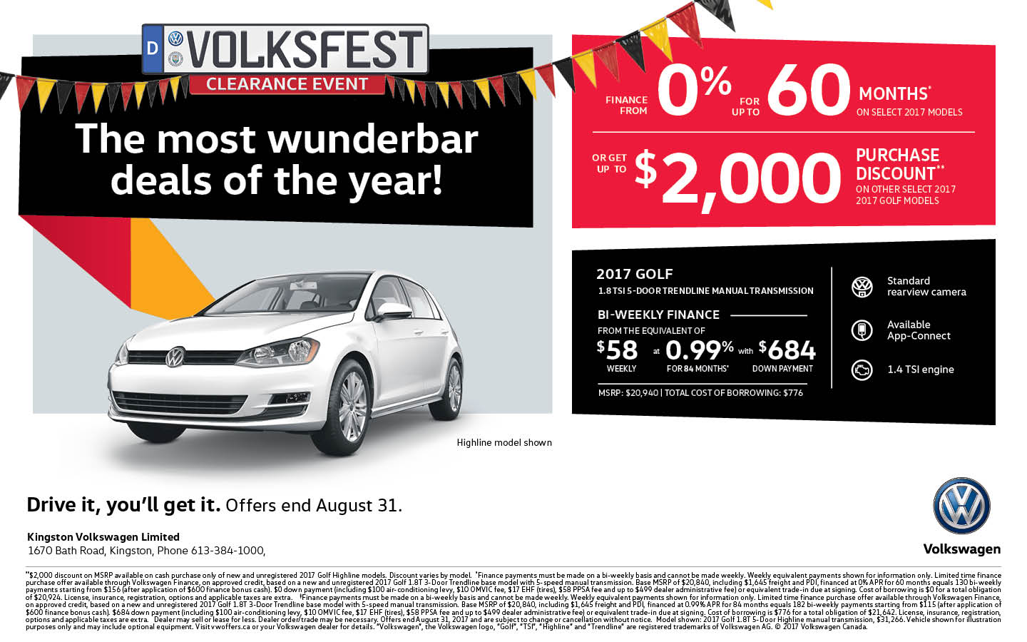 2017 Golf | Volksfest Clearance Event