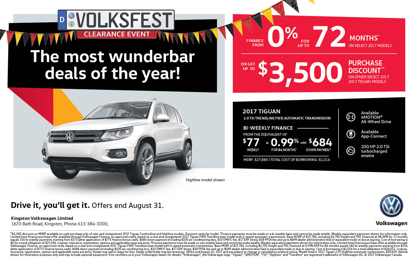 2017 Tiguan | Volksfest Clearance Event