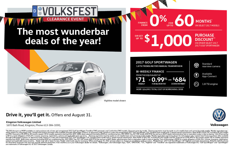 2017 Golf Sportwagen| Volksfest Clearance Event