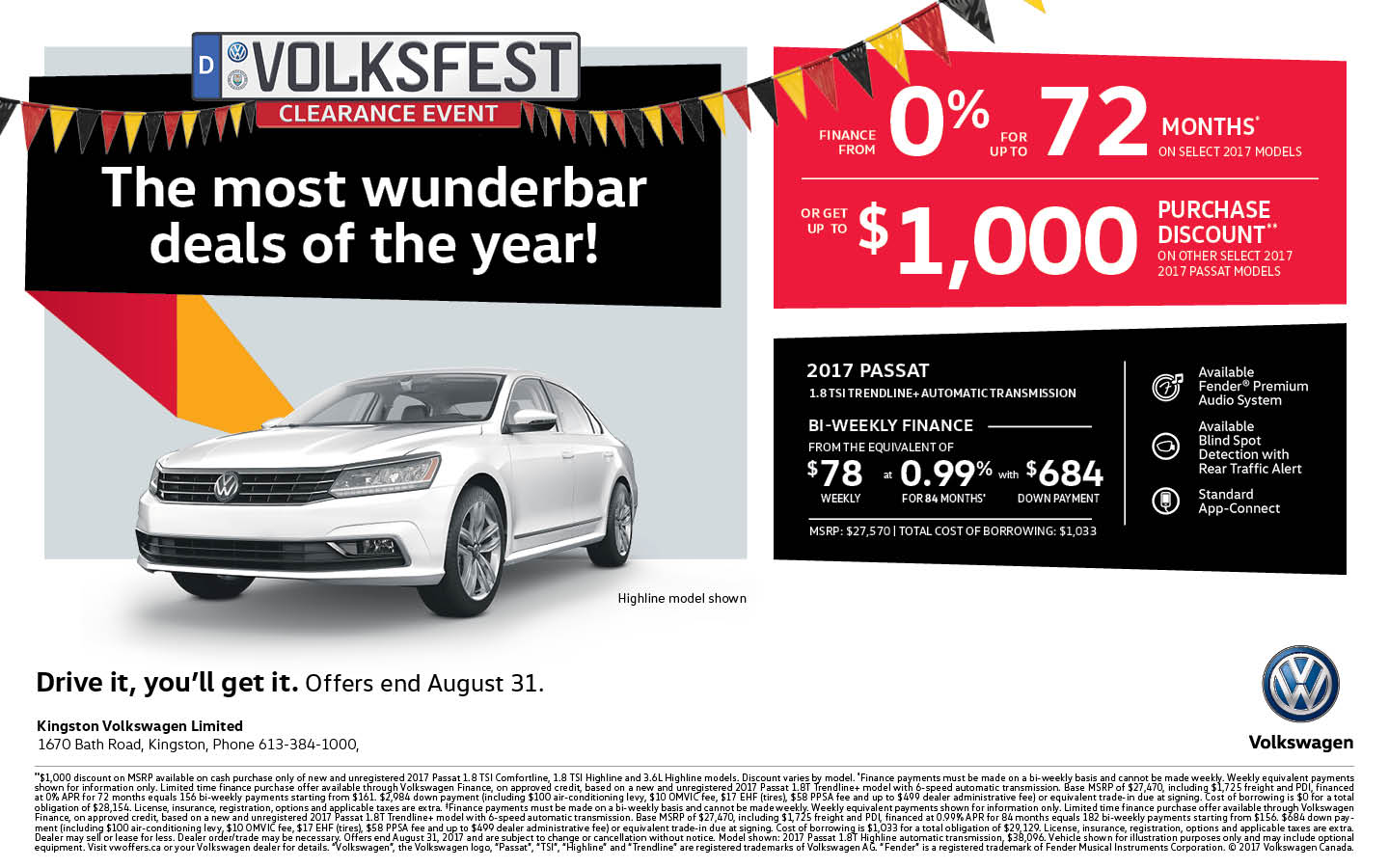 2017 Passat | Volksfest Clearance Event